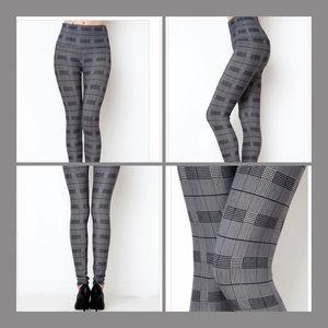 Pants - High Waist Checkered Leggings